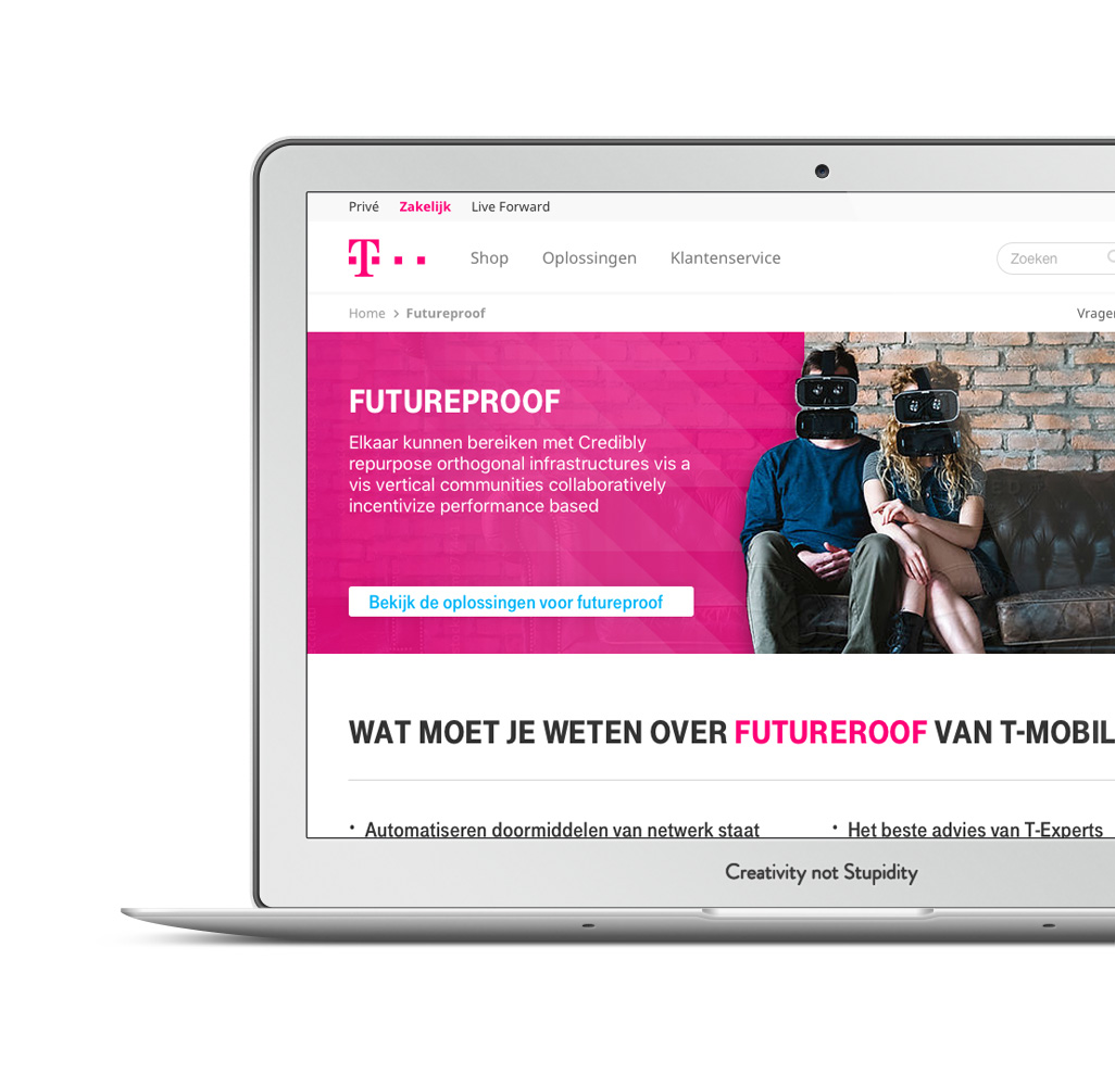 15cc270287b T-Mobile Zakelijk. Website. Bekijk de website